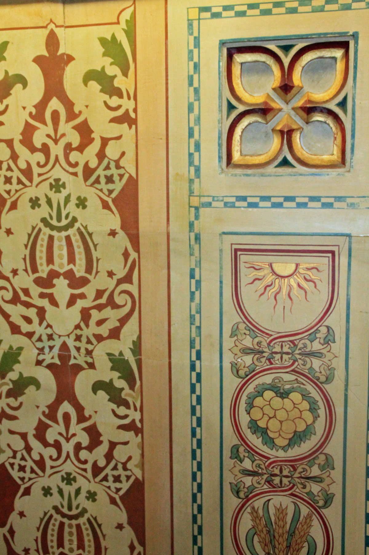 Decorative work at Acton Hill church