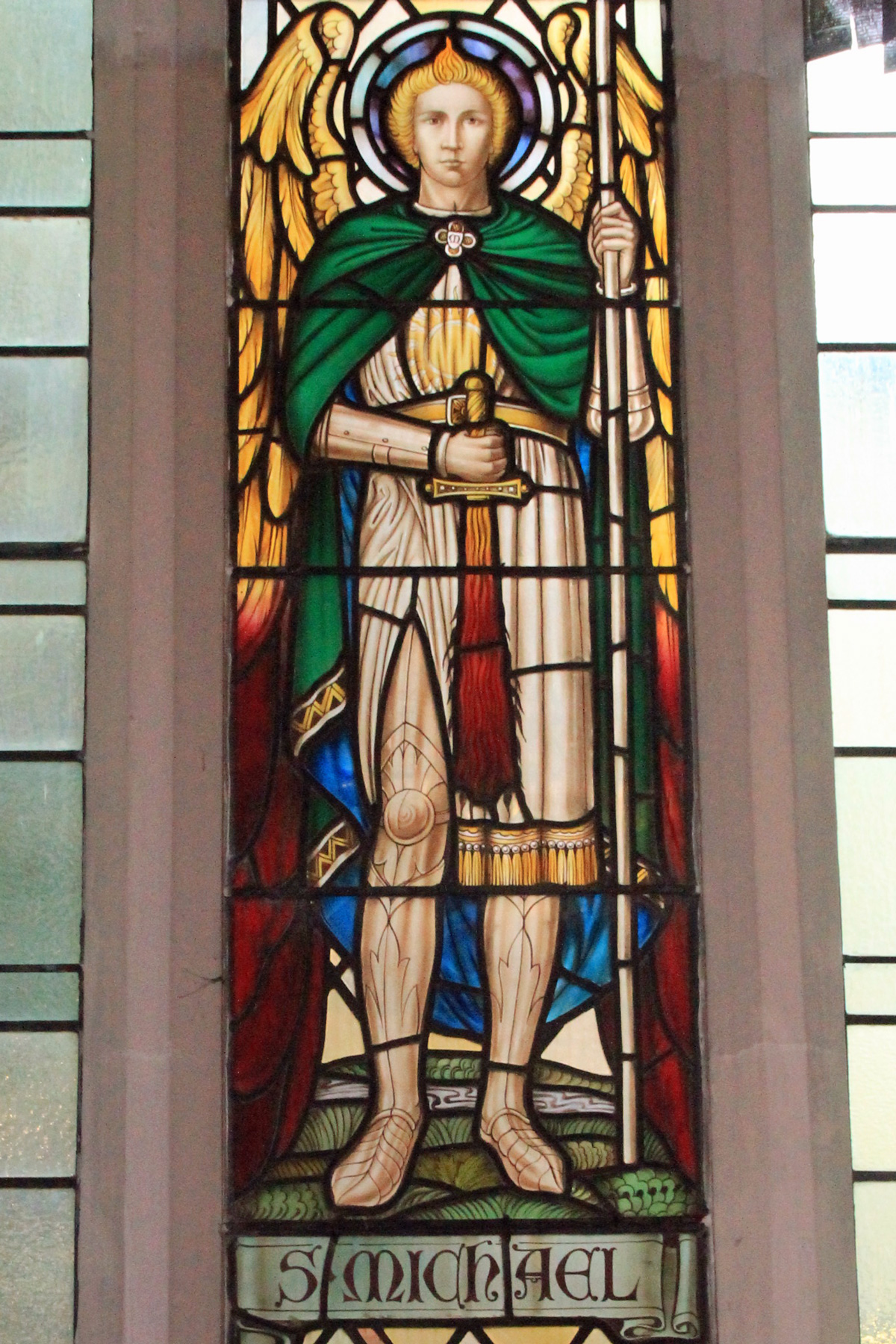 St. Michael window, at Acton Hill Church
