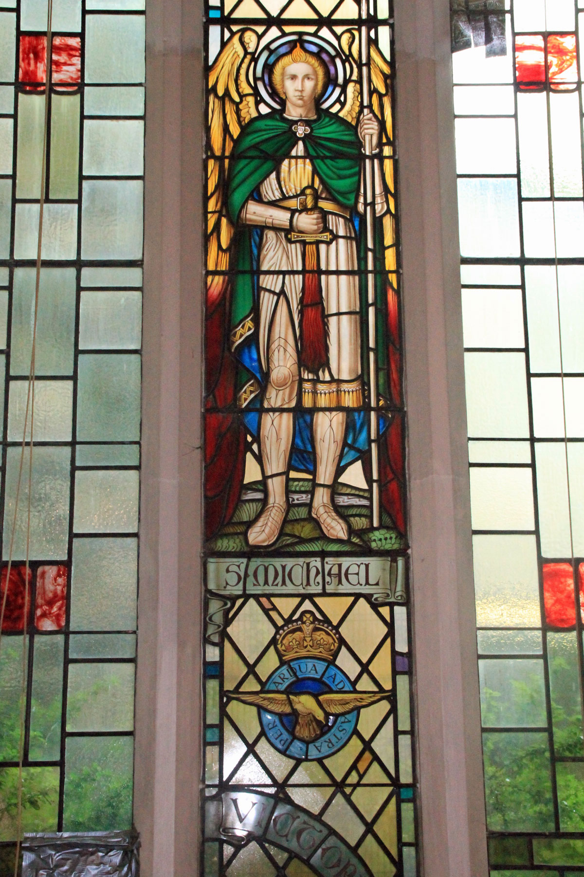 St Michael window at Acton Hill Church